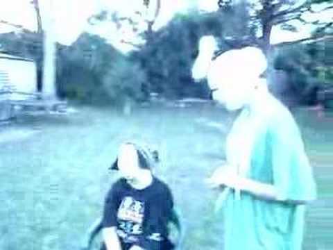 Australian Humor Lessons... FUNNY Bandaged Bandit Groin Hit