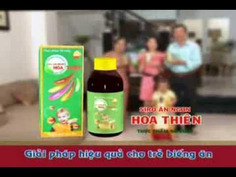 Quảng cáo siro ăn ngon Hoa Thiên
