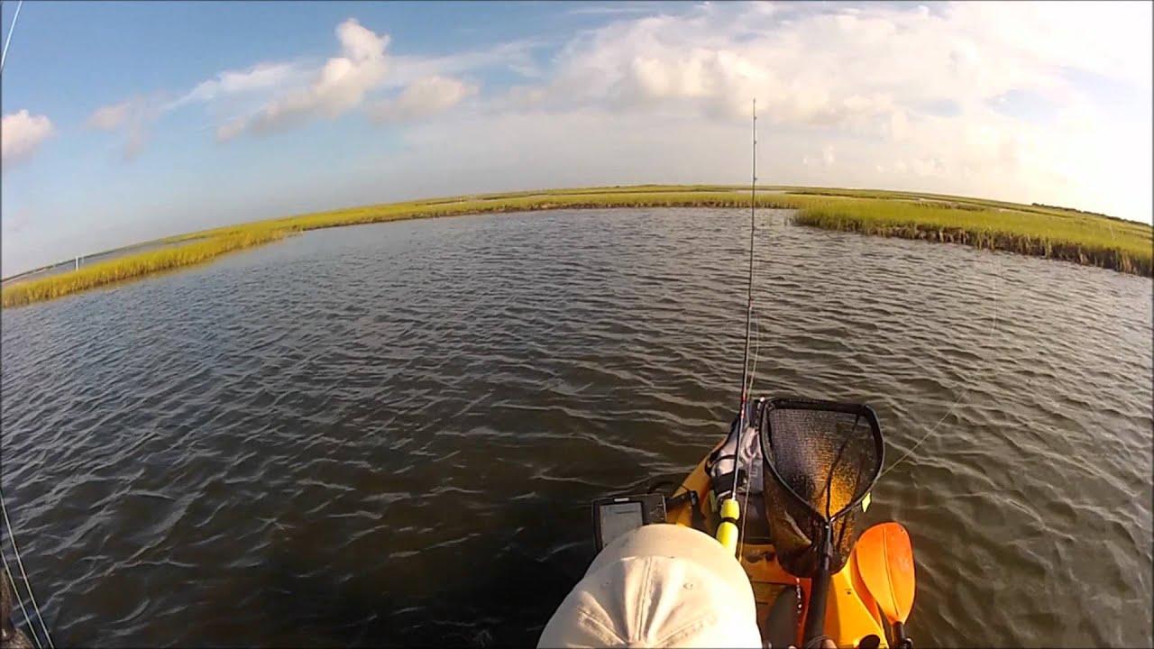 Kayak fishing for redfish in a west galveston bay texas for Bay fishing galveston