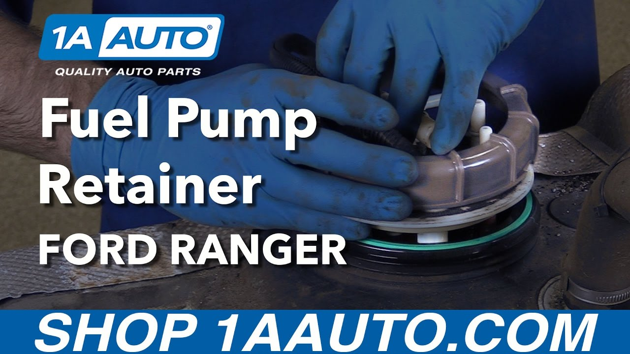 How To Replace Fuel Pump Retaining Ring And Gasket 98 03 40l Ford 1990 F250 Diesel Filter Ranger