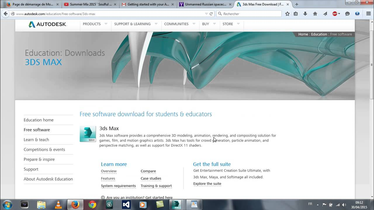 3ds max 2015 student edition download frozen. Autodesk community.