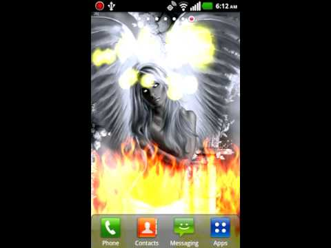 Demon Hell Angel Live Wallpaper
