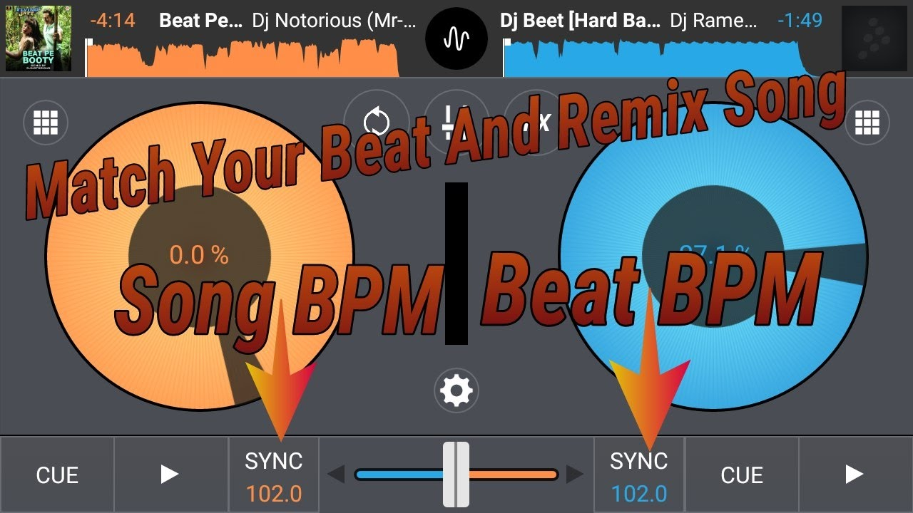 Match Beat of Your Song And Electro Beat In Cross Dj (Sync) (loop) in Hindi  || Android Dj Mixer