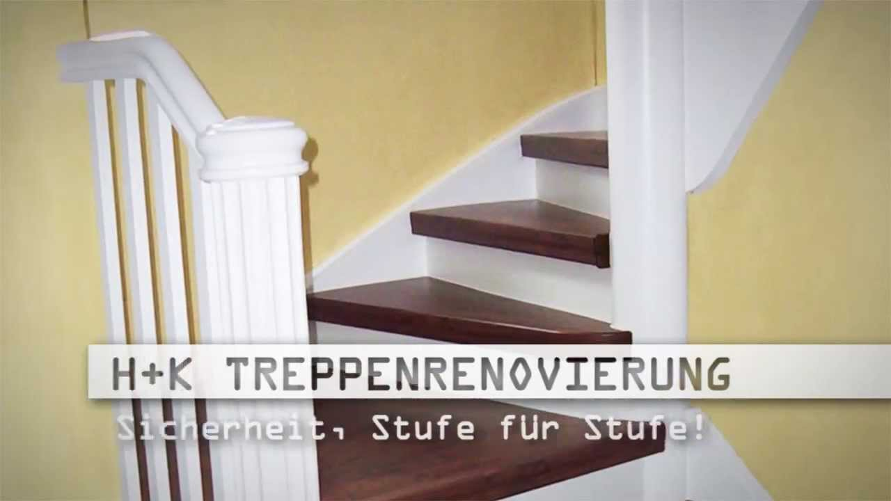 treppenbau chemnitz treppensanierung holztreppen renovieren h k treppenrenovierung youtube. Black Bedroom Furniture Sets. Home Design Ideas