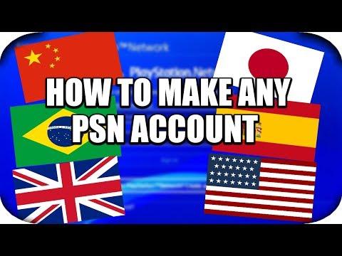 PS4 - How To Make An International PSN Account! (China,USA,UK,Japan Account)