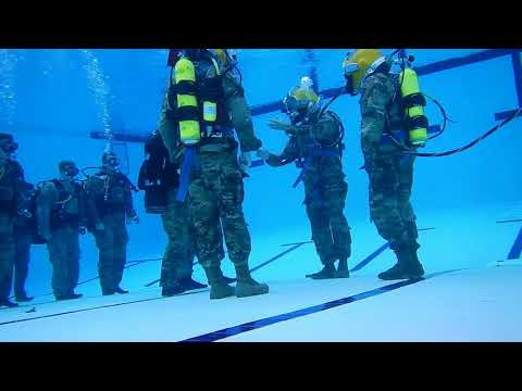 Pacific Army Dive team conducts underwater change of command
