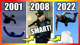 Evolution of COPS LOGIC in GTA Games (2001-2020)