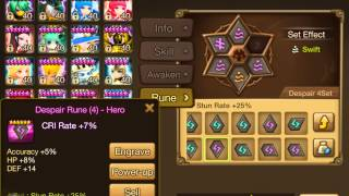 summoners war all my runes in 2 3 months farming b10 giant and b10 dragon