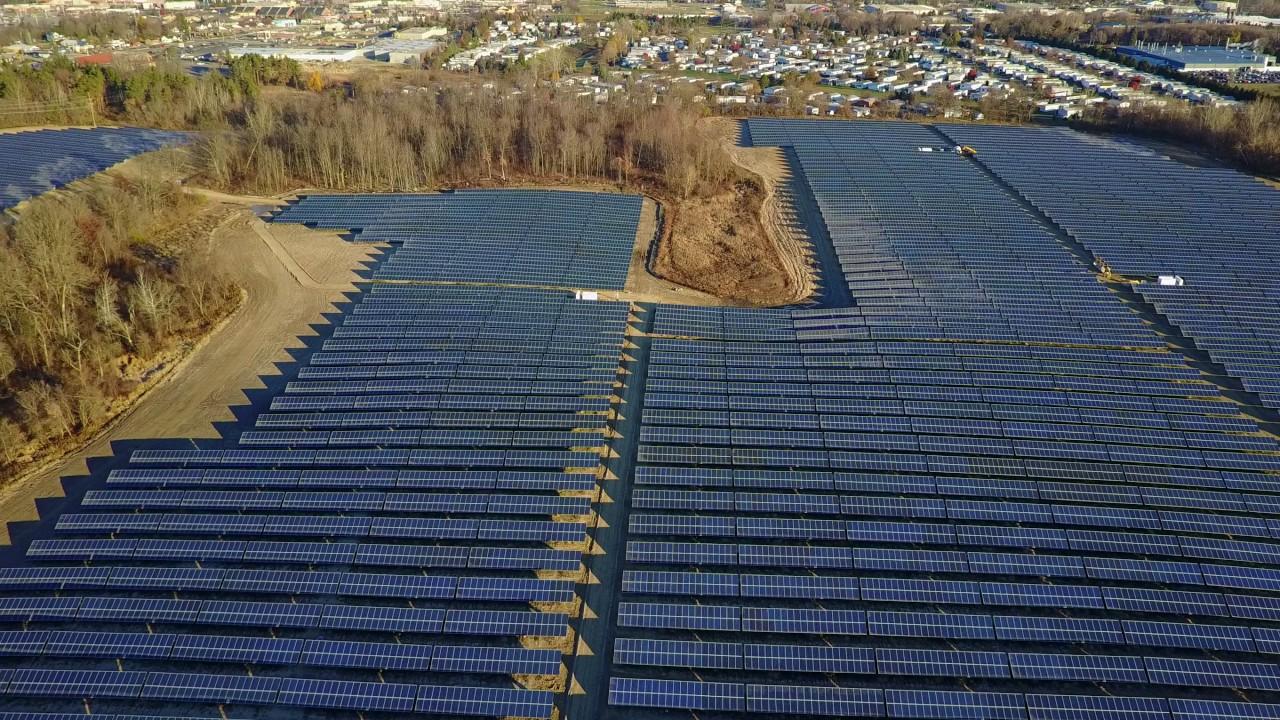 Dji Mavic Pro Flyover Of Dte Lapeer Michigan Solar Farm
