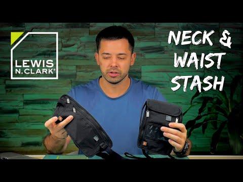 Lewis N. Clark Waist & Neck Stash Travel Wallets (RFID Protection!)