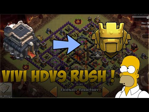 ViVi HDV 9 Rush [speed building] + Suite de mon Rush|Clash of Clans