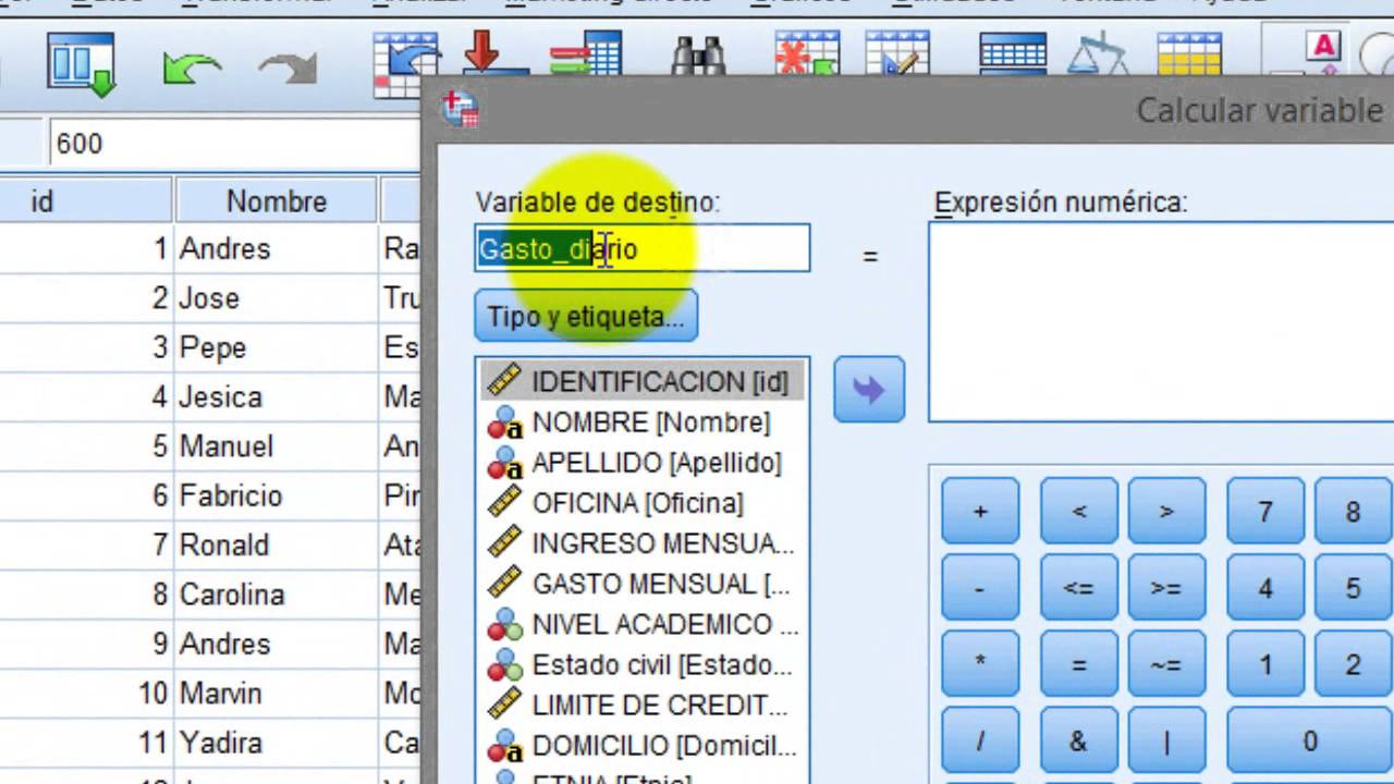 how to add all variables spss syntax