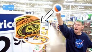 TRICK SHOTS IN THE STORE!