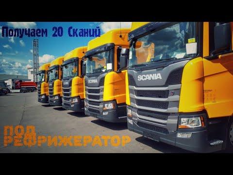 Получаем 20 автомобилей Scania R440 и 20 рефрижераторов  Schmitz.