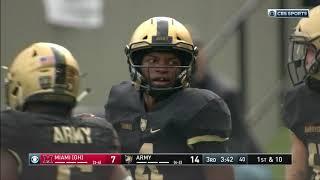 Army Football: Cam Thomas Long Run vs. Miami (OH) 10-20-18