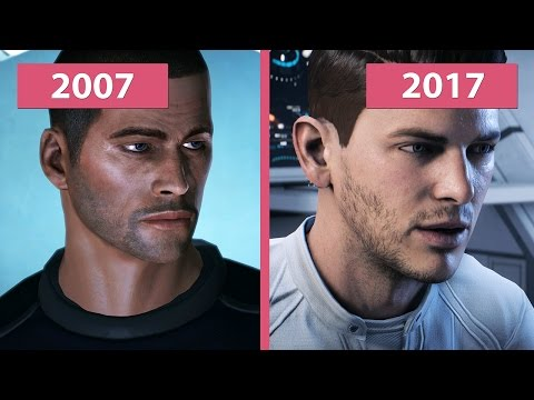 4K UHD | Mass Effect 1 2007 vs. Andromeda 2017 Graphics Comparison