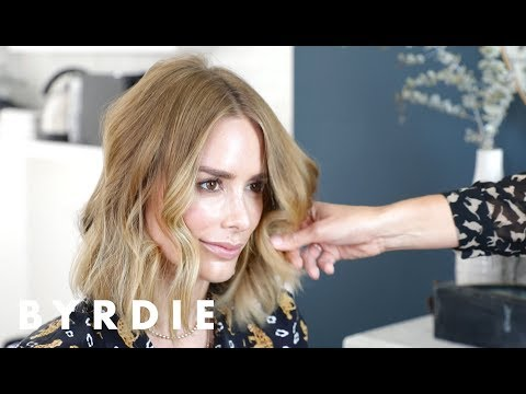 Soft-Waves Hair Tutorial With Kristen Shaw and Anine Bing | Byrdie