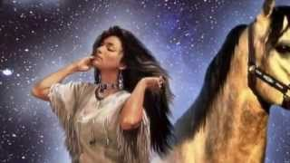 Native Indian - Spiritual Cherokee Song, Music Instrumental: FLUTE MUSIC and DRUMS - 2013.