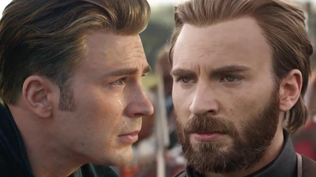 avengers: endgame: captain america shaved his beard?! are we okay