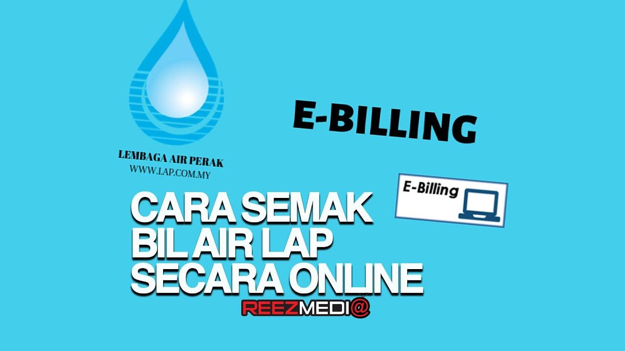 Cara Semak Bil Air Secara Online Bagi Negeri Perak Lembaga Air Perak Youtube