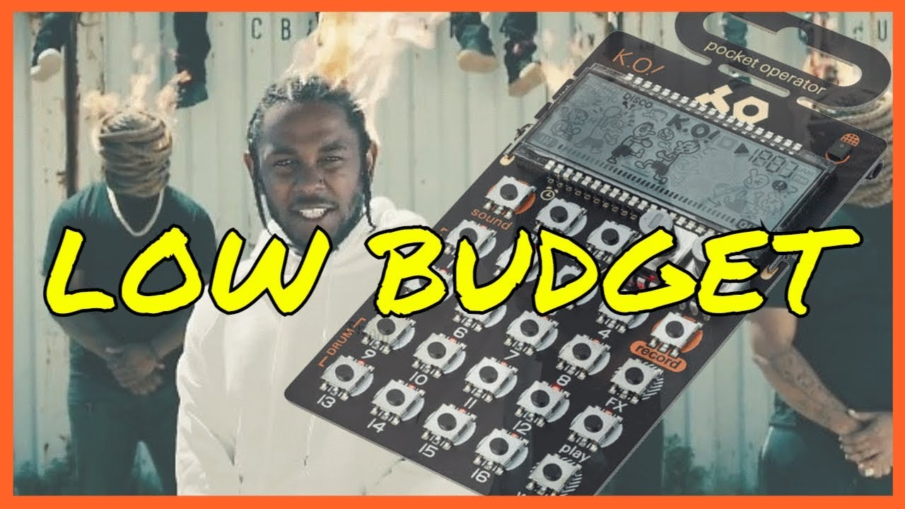 "Kendrick Lamar - ""Humble"" LOW BUDGET version (beatmaking on PO-33 KO)"