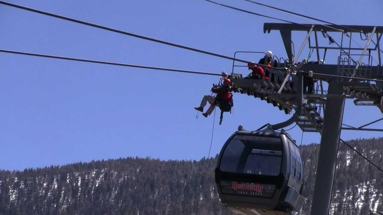 Heavenly Ski Lift Erection Crew  YouTube