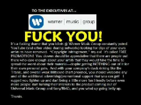 Fuck you Warner Music Group