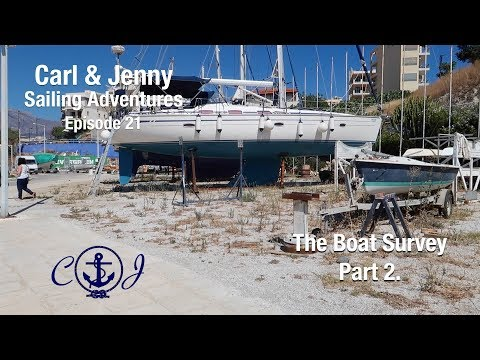 Ep. 21 Pt. 2 of the boat survey in Crete - Carl and Jenny