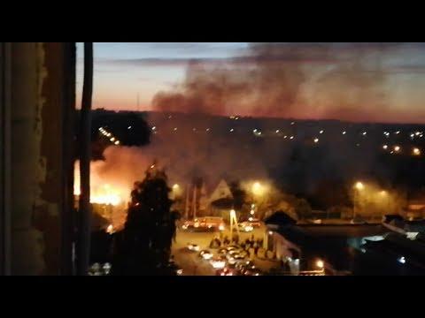 Сильнейший пожар в центре Тамбова