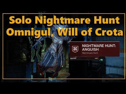Destiny 2 Shadowkeep: Solo Master Nightmare Hunt   Omnigul, Will of Crota