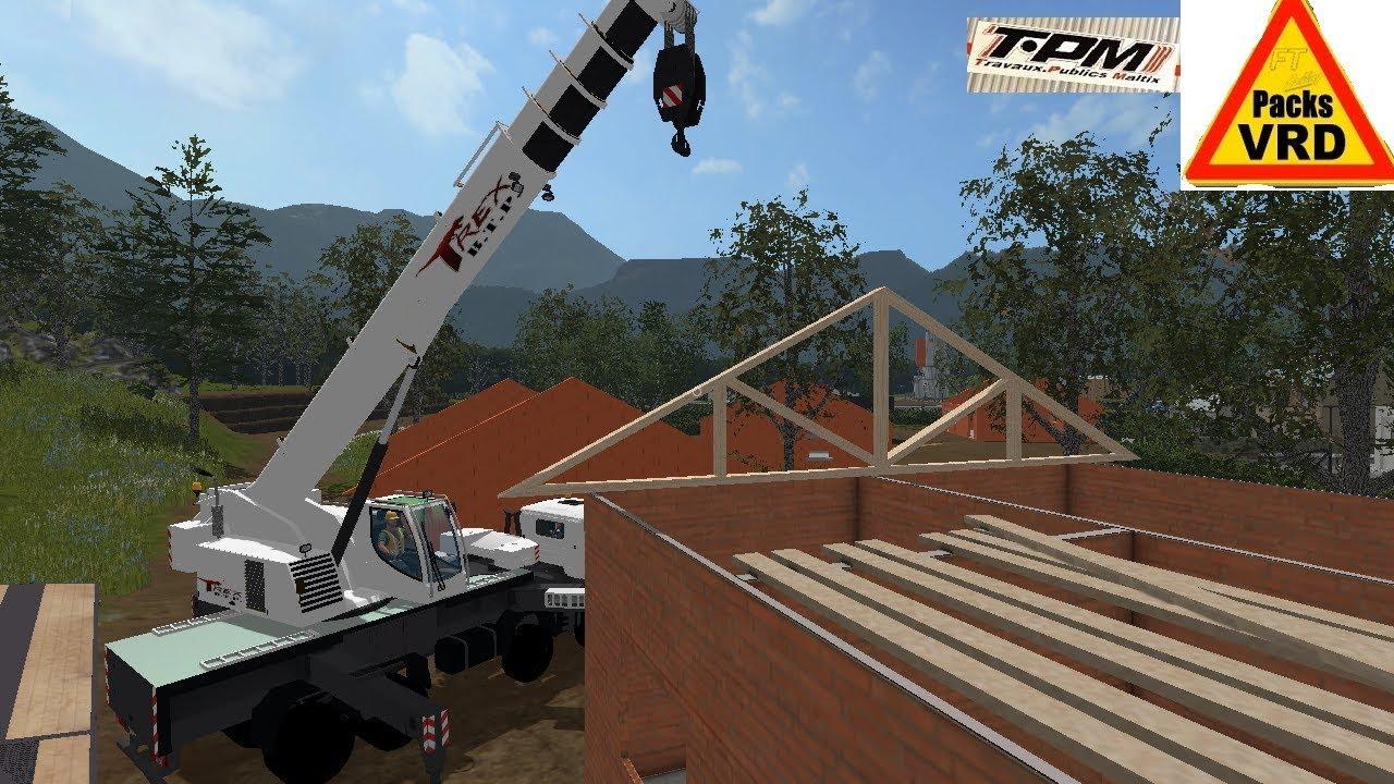 Farming simulator 17 map daltix v2 travaux publics youtube for Pack travaux
