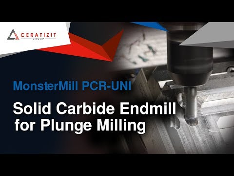 MonsterMill PCR-UNI - Solid Carbide Endmill for Plunge Milling
