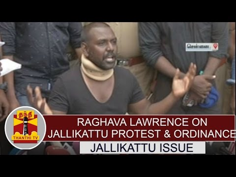 Raghava Lawrence on Jallikattu protests and Jallikattu Ordinance | PRESS MEET