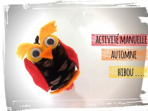Hibou pomme de pin activit manuelle automne youtube - Comment faire des decoration d halloween ...