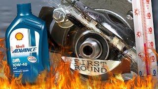 Shell Advance 4T AX7 10W40 Jak skutecznie olej chroni silnik? 100°C
