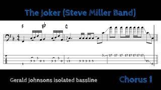 Steve Miller Band - The Joker (isolated bassline with tabs)