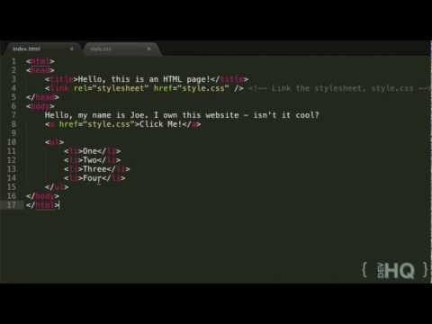 HTML & CSS Tutorial #4: Hyperlinks And Lists