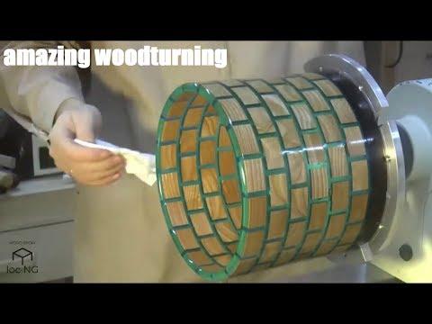 wood mixed epoxy resin made of wood lathe-TOP AMAZING [PART 1]