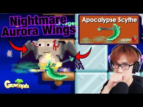 Growtopia - Dark Aurora Wings, Apocalypse Scythe, Making Nightmare Devil Wings [Halloween 2018]