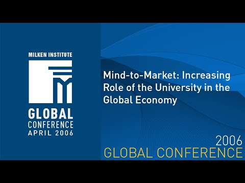 Mind-to-Market: Increasing Role of the University in the Global Economy