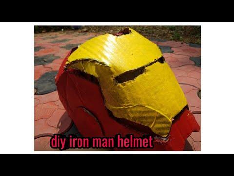 Diy iron man helmet from avengers endgame
