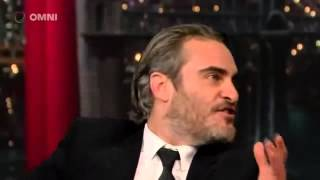 Joaquin Phoenix on David Letterman Full Interview 2017 Video