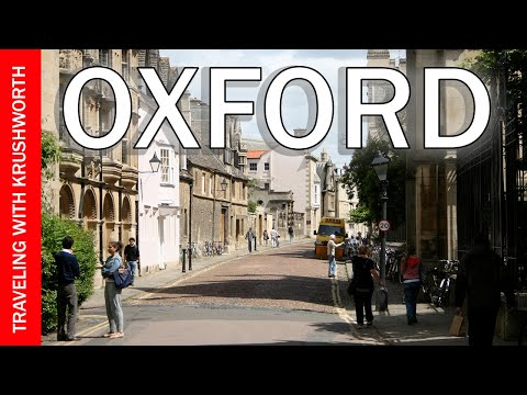 Tour Oxford City England (Great Britain) travel video guide; England tourism attractions