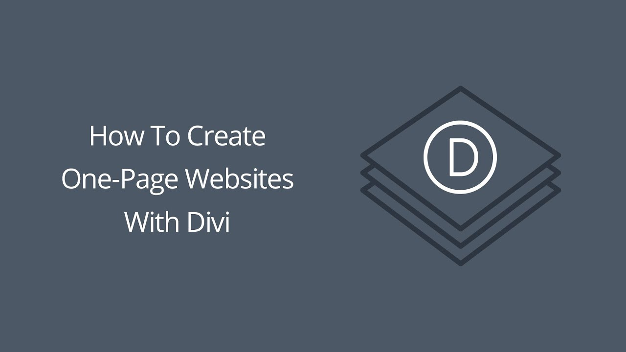 how to create one page website navigation