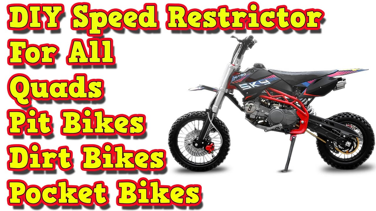 Diy Speed Restrictor For All Pit Bikes Dirt Bikes Quads