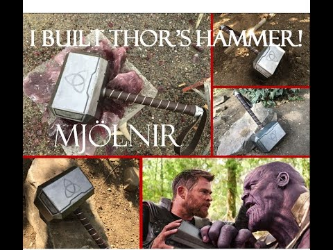 MY FIRST WELDING PROJECT!!!   Making Thor's Hammer Mjolnir!