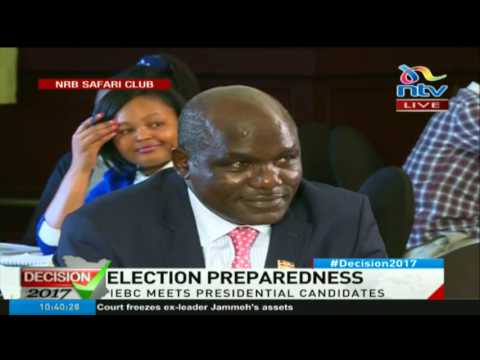 Election preparedness - IEBC meets presidential candidates