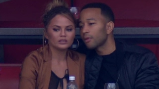 Chrissy Teigen Suffers Wardrobe Malfunction At Super Bowl 51 & Gives PRICELESS Reaction