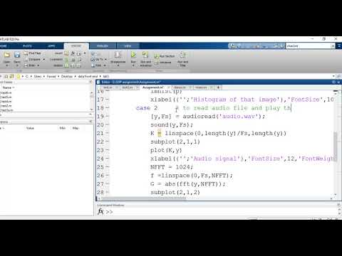 Read Image, Audio and text file in matlab
