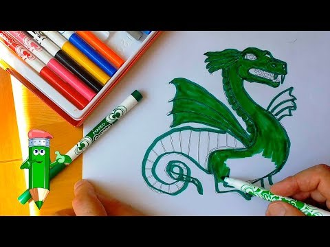 How to draw a dragon, draw a dragon step by step, #YouTubeKids
